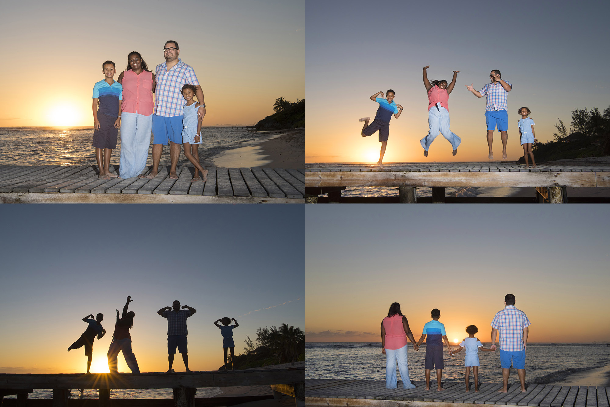 Family Beach Portraits in Grand Cayman with photographer Heather Holt Photography from Picture This Studios.