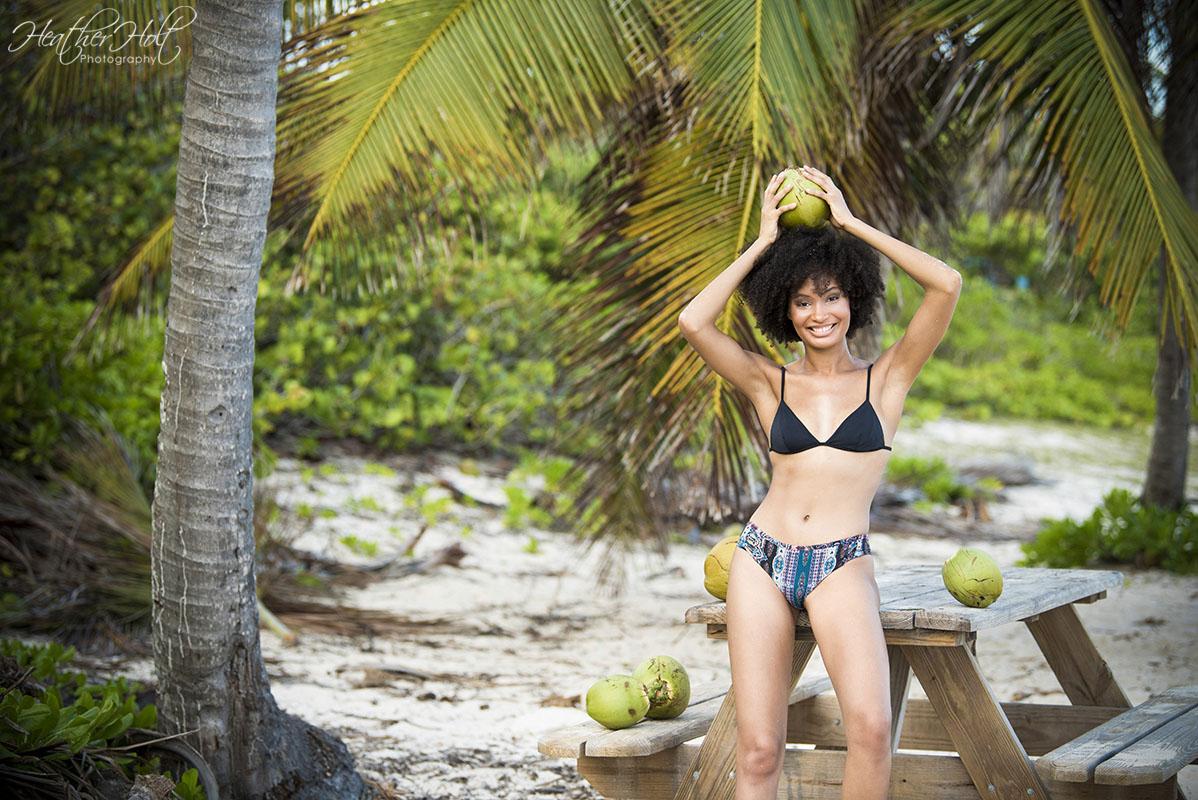 Caymanian Model Alyssa and Cayman Islands Portrait Photographer Heather Holt have a beautiful shoot at Spotts Beach on Grand Cayman.